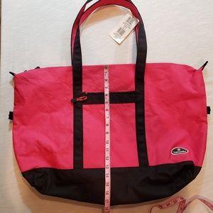 Samsonite NWT large pink/blk travel tote